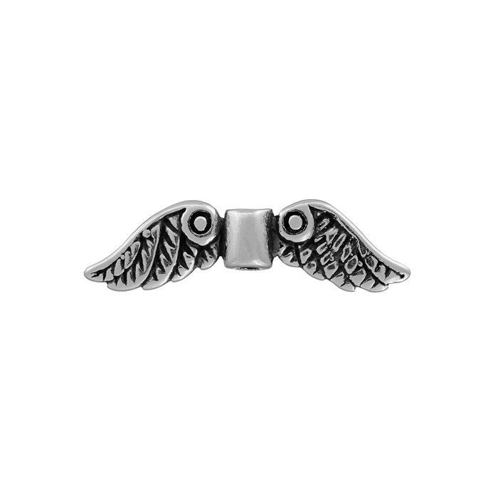 Black Bow Jewelry Christmas Angel Charm in Antiqued Sterling Silver
