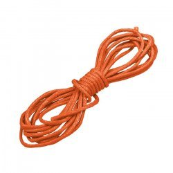 Round 1mm Waxed Cotton Jewellery Cord Burnt Orange 1m