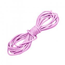 1mm Round Waxed Cotton Jewellery Cord Baby Pink 1 Metre