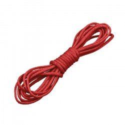 1mm Round Waxed Cotton Jewellery Bead Cord Red 1 Metre
