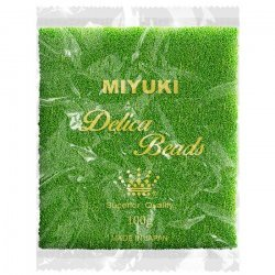 Miyuki Delica Wholesale Beads 11/0 Lined Green/Lime 100g