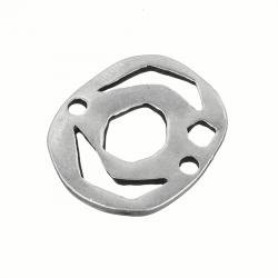 Antique Silver Connector Charm Jewellery Component 35mm