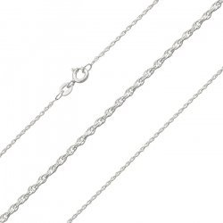 Finished 1.15mm Rope Chain 0.25 Sterling Silver 925 18""