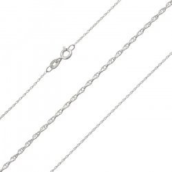 1mm Light Rope Chain 0.18 Sterling Silver 925 18 Inch