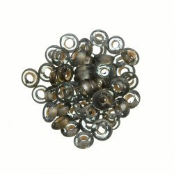 Handmade Transparent Grey Glass Donut Beads 7mm (PK50)
