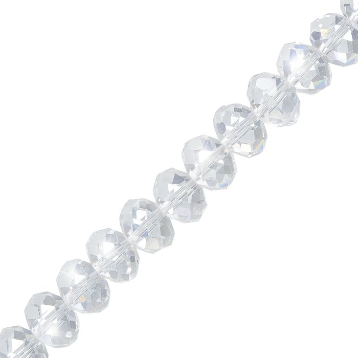 Clear Glass Crystal Mm Faceted Rondelle Beads