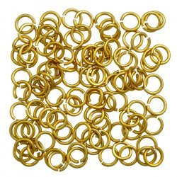 Aluminium Chain Maille 5mm Jump Rings 1.2mm Gold PK100