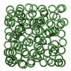Aluminium Chain Maille 5mm Jump Rings 1.2mm Mint PK100