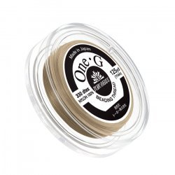 Toho One-G Nylon Bead Thread 0.2mm Sand Ash 125yd Reel