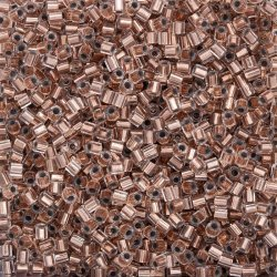 Miyuki Hex Cut Size 8/0 Beads Copper Lined Crystal 12g
