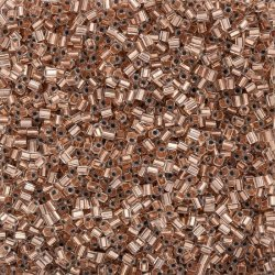 Miyuki Hex Cut 11/0 Seed Beads Copper Lined Crystal 12g
