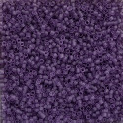 Toho Treasures 11/0 Transparent Frosted Sugar Plum 7.8g