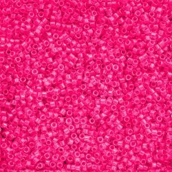 Toho Treasure Seed Beads Size 11 Luminous Neon Pink 7.8g