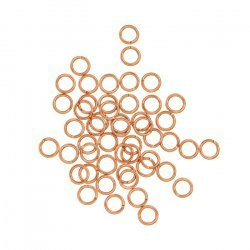 Rose Gold Plated 5mm Open Jump Rings 0.8mm Thick PK50