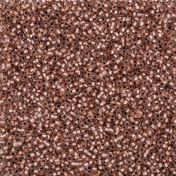 Toho Round Size 15 Copper Lined Crystal Seed Beads 8.2g