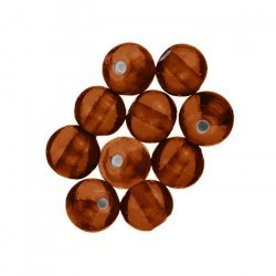 Handmade Silver Lined Round Glass Beads 7mm Orange PK10