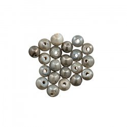 Handmade Round Pearlescent Grey Glass Beads 4mm (PK20)