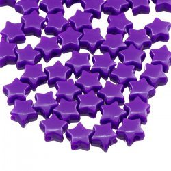 Opaque Purple Acrylic Star Shaped Pony Beads 12mm PK50