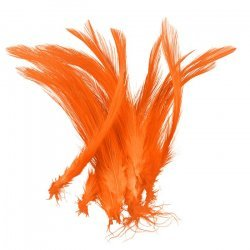 Dyed Orange Craft Feathers Jewellery Making 120mm (PK20)