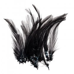 Dyed Black Craft Feathers Jewellery Making 120mm (PK20)