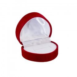 Red Velour Jewellery Ring Gift Box Heart 50x45x37mm PK1