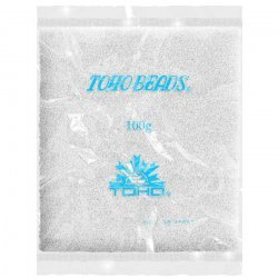Wholesale Toho Round 15 Beads Opaque Frosted White 100g