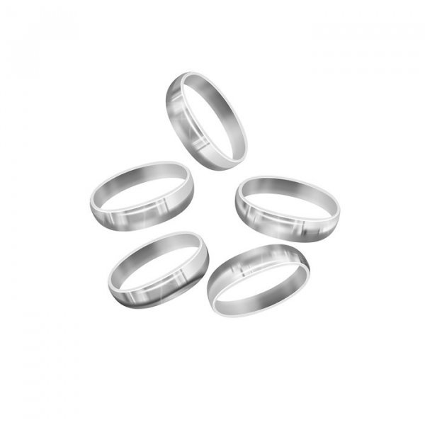 Sterling Silver 925 Oval Soldered Jump Ring 6x4mm (PK5)