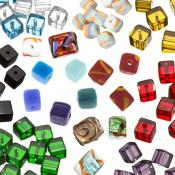 Cube Glass Beads