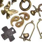 Brass-Copper-Black Metal Pendants & Charms