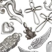 Silver Metal Pendants & Charms
