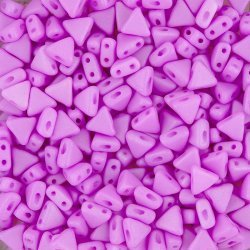 Kheops® Par Puca® Triangle Beads Mauve Silk Matt 6mm 9g
