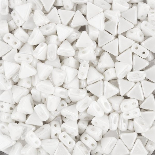 Czech Kheops® Par Puca® (6mm) Beads Opaque White Luster