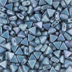 Czech Kheops® Par Puca® Beads Opaque Blue Luster 6mm 9g