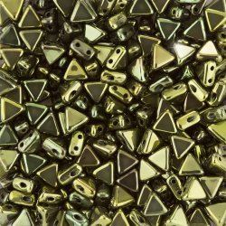 Czech Kheops® Par Puca® (6mm) Beads Metallic Green - 9g