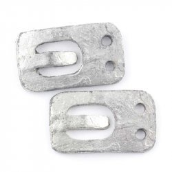 Rectangle Silver Jewellery Buckle Connector 36x21mm PK2