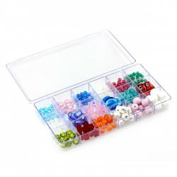 Large Transparent 18 Compartment Bead Storage Box 210mm PK1