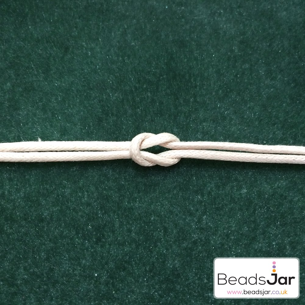 Beads Jar A Guide To Knots Used In Jewellery Making Square Knot Diagram For These You Will Need Hold The Ends Of Your Thread Securely Using Either Clip Board Or Taping Them Hard Flat Surface Is